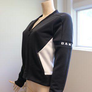 Oakley Black and White Zip Bomber Jacket
